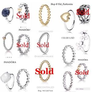 ❗️UPDATED❗️Pandora Rings for sale